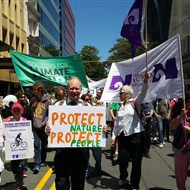 Wellington climate march Willis Street.jpg