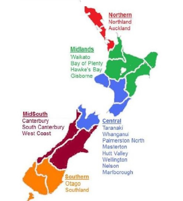 NZCCCN areas for national committee membership