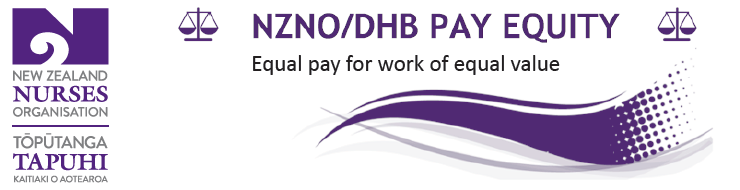 NZNO/DHB Pay Equity banner